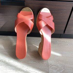 🆕 Jimmy Choo perfume leather wedge sandal NWOT